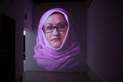 Judith Barry, Cairo Stories…, 2010-2011, multi-site video installation, dimensions variable, Co-commissioned by Sharjah Art Foundation,, Foundation Daniel Langlois, Montreal and the American University in Cairo,, Installation view, photo by Alfredo Rubio