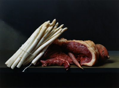 Early American Still Life with Steak and Asparagus, 2008 © Sharon Core