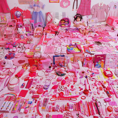 YOON, JeongMeeSeo Woo and Her Pink Things, 2006from The Pink & Blue Project (2005–8).Chromogenic photographMuseum purchase with funds provided by Photo Forum 2007, The Museum of Fine Arts, Houston.