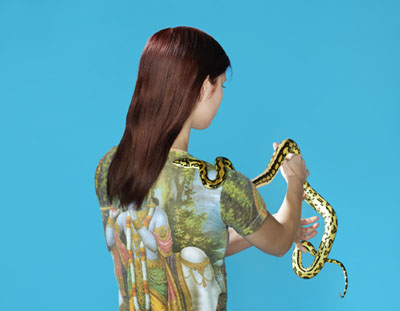 PETRINA HICKSSnake Charmer, 2011from Hippy and the SnakePigment print90 x 116cm, edition of 6 + 2AP