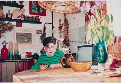 Vlada in the kitchen Kazan 1992 © Bertien van Manen