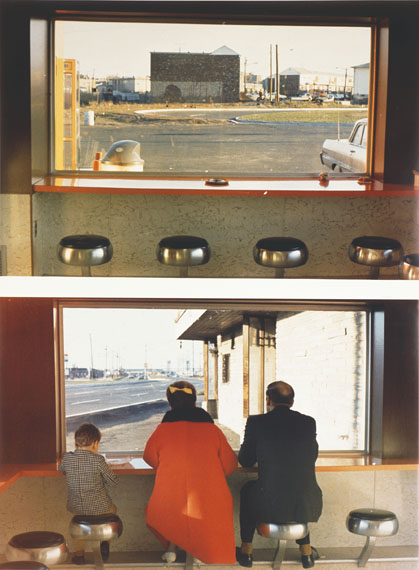 Dan Graham (*1942), View Interior, New Highway Restaurant, Jersey City, N.J., 1967 (detail), C-prints (printed in 1996), each 50.6 x 76.2 cm (images), On permanent loan from Siemens AG, Munich, to the Sammlung Moderne Kunst since 2003, © Dan Graham