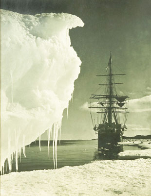 Terra Nova at the Ice-Foot, Cape Evans, 16 January, 1911