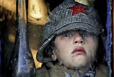 Junge mit rotem Stern auf der Mütze, Weißrussland, Gden, Oktober 1990, © Hans Madej