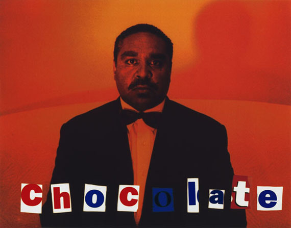 Chocolate, 1995from They call me niigarrHigh gloss pigment print31 x 39.5cm, Edition of 10© MICHAEL RILEY