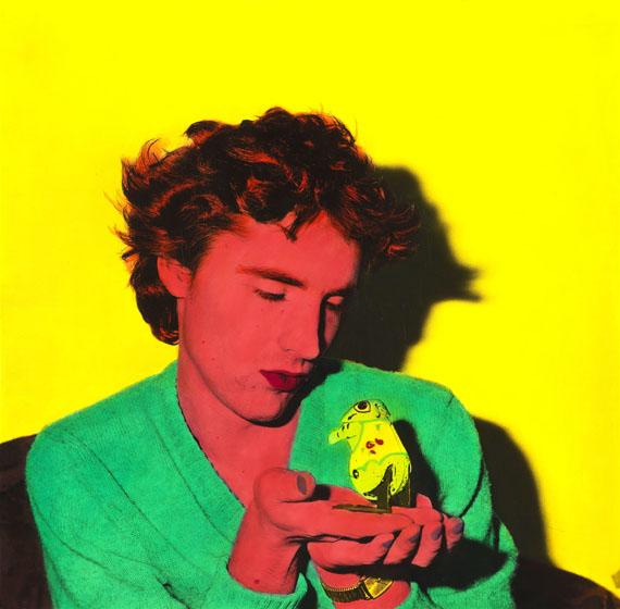 Florian Merkel: Mann mit Frosch, 1987 © Florian Merkel